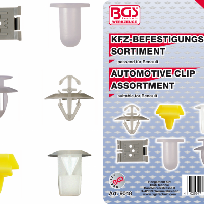 ASSORTIMENT DE CLIPS RENAULT